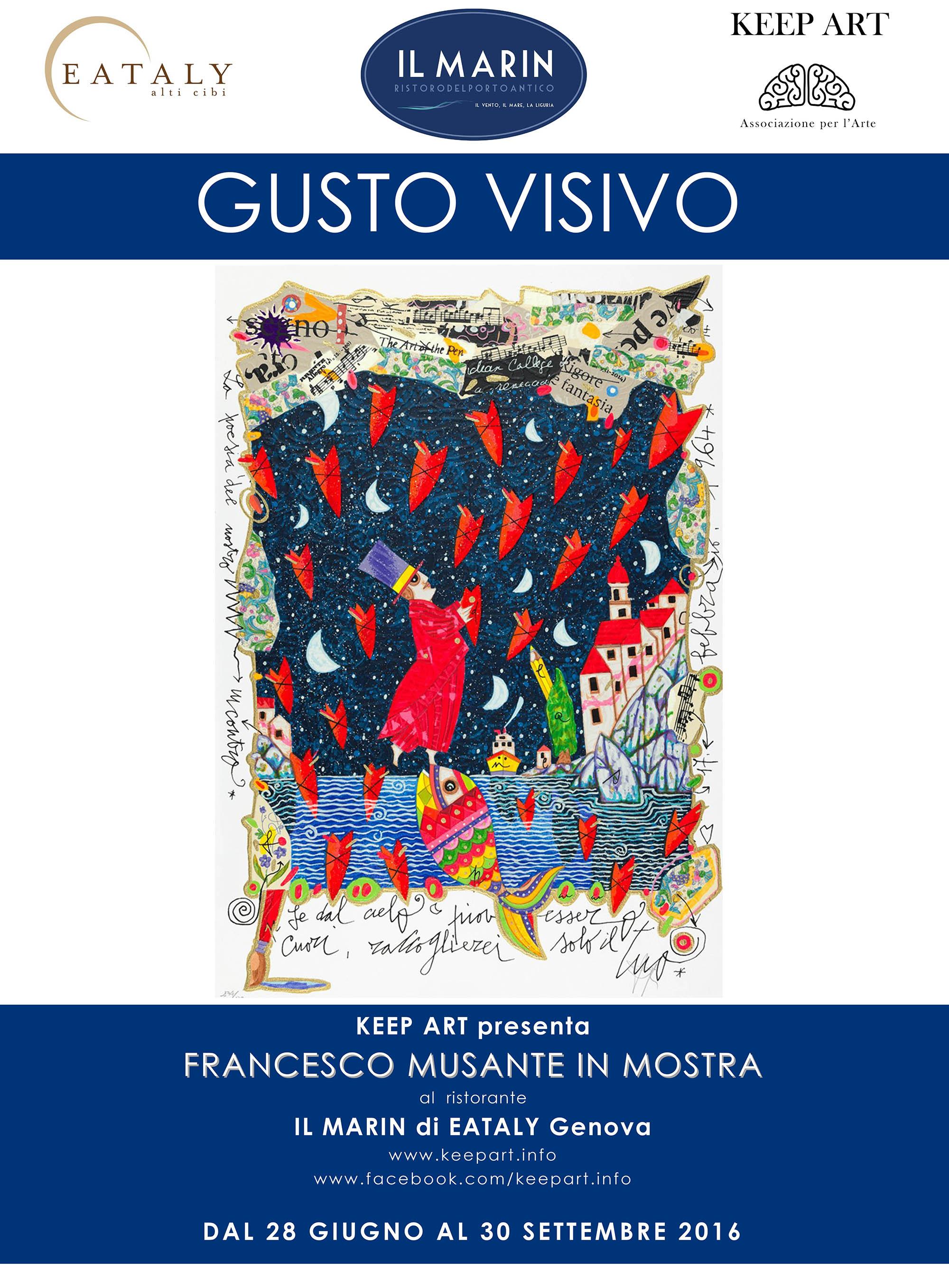 Francesco Musante mostra ristorante Il Marin Eataly  Genova